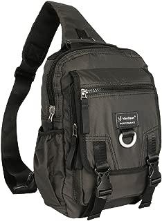 Vanlison Sling Bag Backpack Cross Body Messenger Bag Shoulder Backpack Travel Rucksack Black