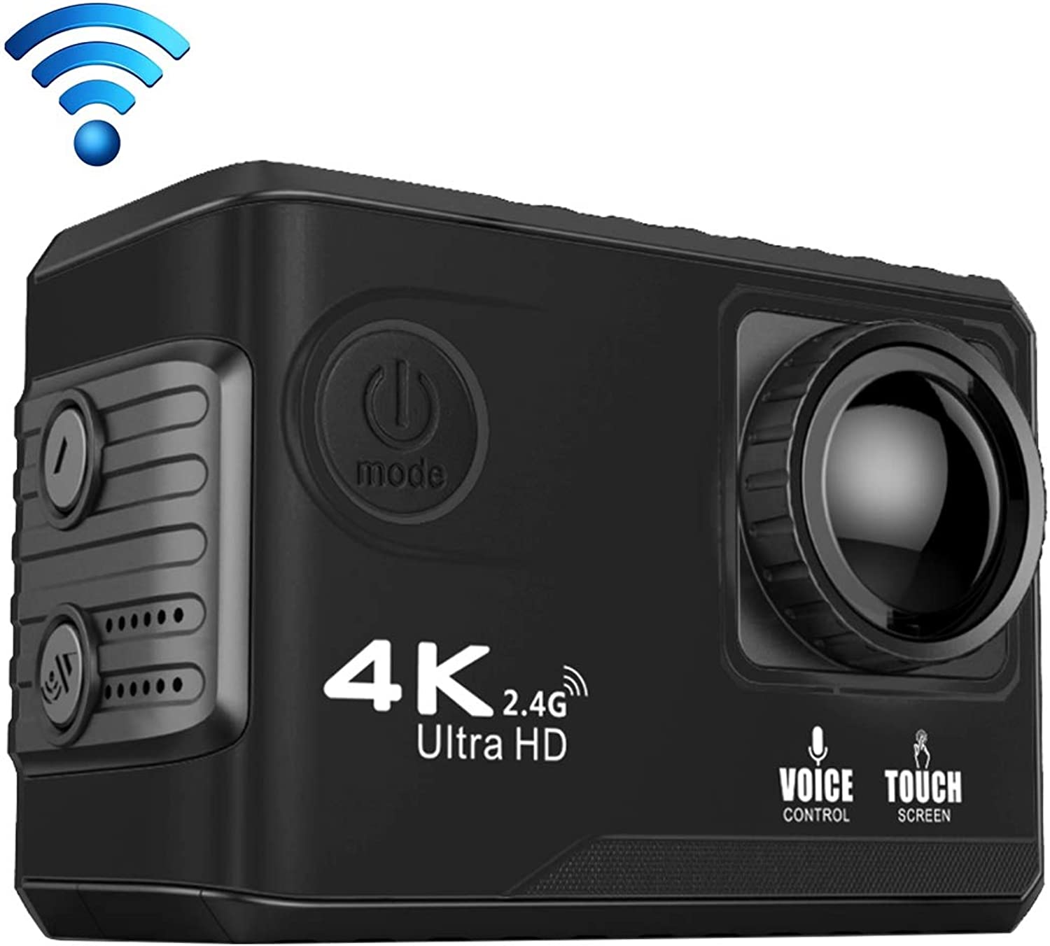 Sports Camera S100 Pro 4K WiFi Action Camera with Waterproof Housing Case, 2.0 inch Screen, 170 Degrees Wide Angle(Black) (color   Black)