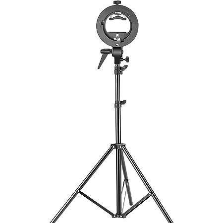 Neewer 190 centímetro Soporte de Iluminación Ajuestable y Zapata de Conexión S-Tipo con Montaje Bowens para Fotografía y Grabación de Vídeo