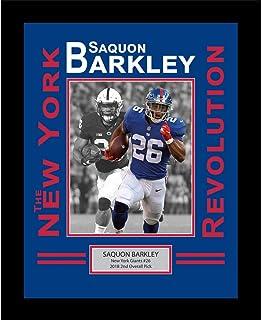 Framed Saquon Barkley New York Giants Revolution 8x10 Football Photo Professional Matted