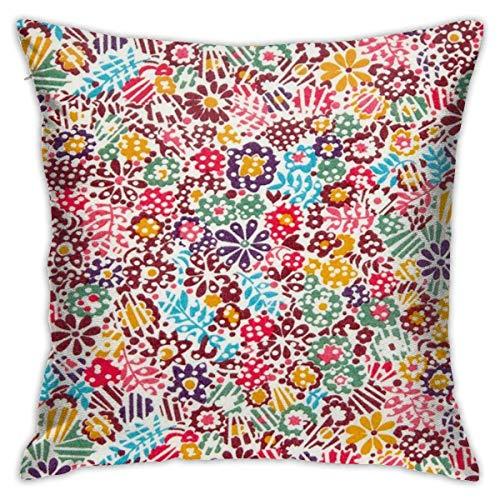 wteqofy Liberty of London Throw Pillow Cover 18'X18', Double Side Design Bolster Pillowcase, Decorative Cushion Pillow Case for Car Sofa Theme Brithday Party Bedroom Decor Kid Girls Boys