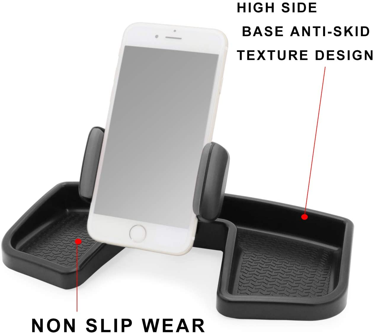 Camoo for Jeep Renegade Phone /& GPS Car Holder 360 Degree Rotation with Organizer Storage Adjustable Auto Mobile Holder Stand Kit Fits Jeep Renegade 2015-2019 Black