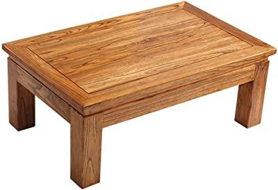 Coffee Tables Wooden Living Room Low Table Home Small Table Tea Table Laptop Table (Color : Wood Color, Size : 60x40x28cm)