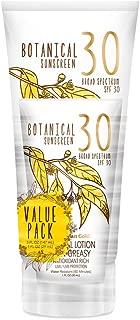 Australian Gold Botanical Sunscreen Mineral Lotion w/Bonus 1oz Lotion, Broad Spectrum, Water Resistant, SPF 30, 5 Ounce