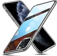 ESR Cover per iPhone 11 PRO, Protezione Posteriore in Vetro temperato 9H con Cornice in TPU, Custodia per Assorbimento Urti con Bumper Morbido Resistente ai Graffi per iPhone 5.8 2019,Trasparente