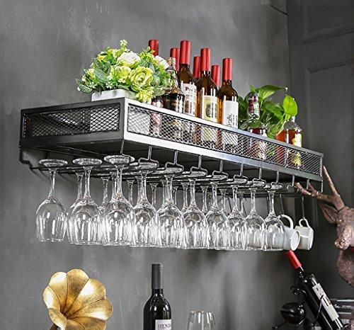 MoDi Botelleros Sostenedor de Cristal de Vino Industrial Que cuelga el sostenedor de Vaso de Cristal Sostenedor de Vaso de Vino Creativo Que cuelga el Marco de Hierro del