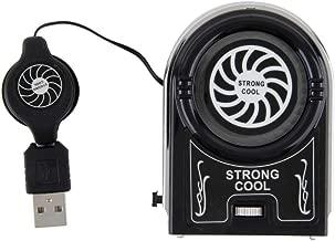 AirArtDeco Mini Clip Personal de 6 Pulgadas en Ventilador con 2 Velocidades Negro Funcionamiento silencioso Ventilador de enfriamiento de aire port/átil Ideal para el hogar y la oficina