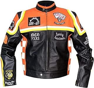 HDDM Mickey Rourke Don Johnson Motorcycle Marlboro Man Biker Real Leather Jacket