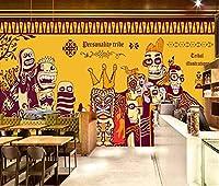 壁紙 カスタム 3D 写真の壁紙手描き落書き インド 壁画の男の子の寝室のリビング ルームの幼稚園の学校のデザイナーの部屋の装飾 -250x175CM(LxH)-XL