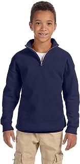 Jerzees Big Boys Quarter-Zip Cadet Collar Pullover Sweatshirt