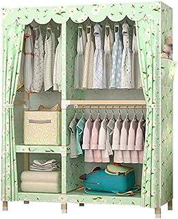 CXVBVNGHDF Armoire Portable Armoires en Toile Organisateur de Rangement de vêtements Étagères de Placard en Bois Massif re...