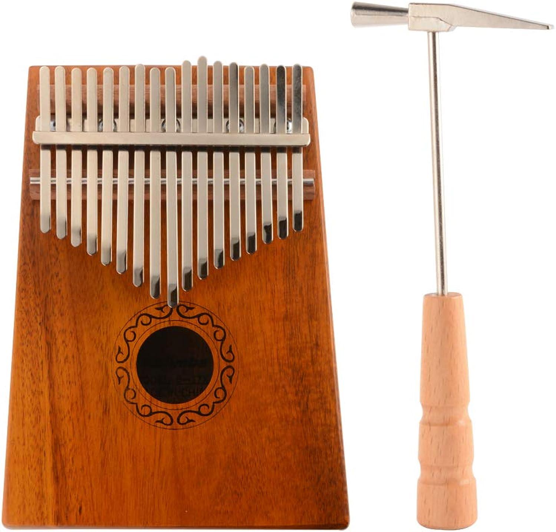 XCSOURCE 17 Keys Kalimba Thumb Piano Mahogany Wood Finger Piano Mbira African Instrument with Tuning Hammer, Key Stickers TH1054