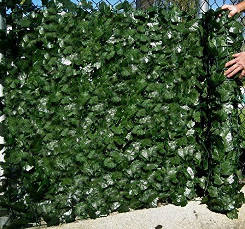 Best Artificial. Seto artificial de ocultación de hiedra inglesa de 1,5 x 3m, no pierde color, para dar privacidad, como muro de separación o valla de jardín, resistente a rayos UV