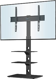 BONTEC Universele vloertv-standaard voor 30-70 inch LED OLED LCD Plasma platte gebogen schermen, in hoogte verstelbare hog...