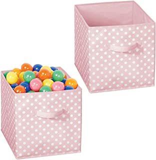 mDesign 2 sztuki pudełko do przechowywania z materiału – organizer do szafy na ubrania i akcesoria – kompaktowe pudełko ma...
