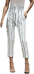 Kolylong の Vintage Pantalon Fluide Femme été Autom