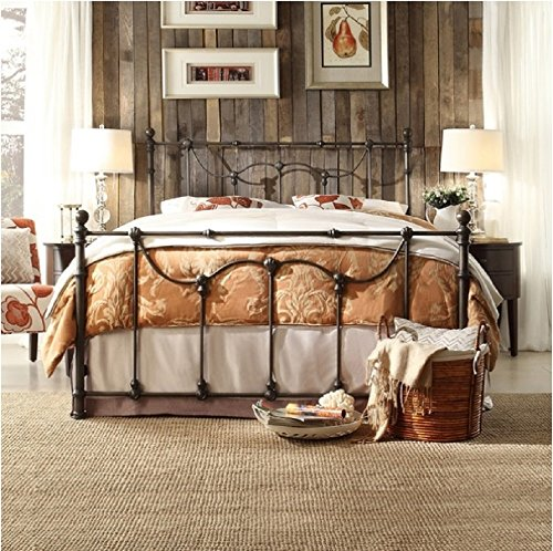Bellwood Dark Bronze Victorian Iron Metal Bed - Queen Size by Inspire Q