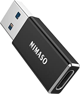 NIMASO USB C to USB 3.1 Adapter, Both Sides 3.1 USB C Adapter Support Fast Charge,5Gbps Sync,Audio,Compatible with iPhone ...