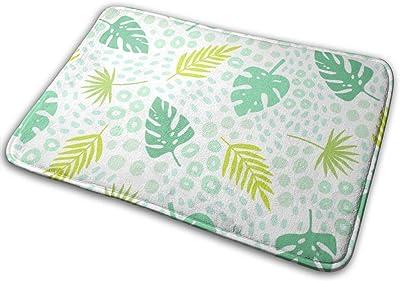 """Tropical Palm Leaves Indoor Doormat Front Back Door Mat,23.6""""x15.8"""" Mat Non Slip Large Door Rug"""