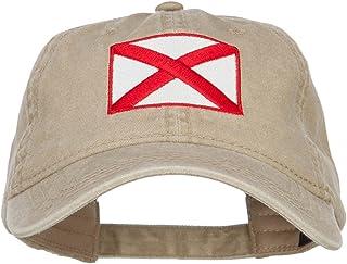 e4Hats.com Alabama State Flag Embroidered Washed Cap