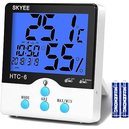 visualizzazione Data//Ora ZDYLM-Y Termometro Igrometro Digitale Wireless con previsioni Meteo Sveglia e Funzione Snooze