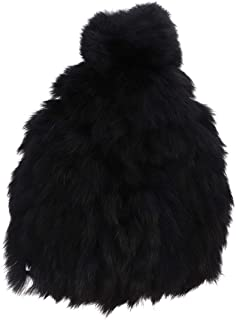 Motique Accessories Kids Boys Girls Ultra Soft Fur Beanie Winter Hat with Pom Pom