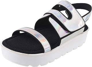 Catwalk Women's Hologrpahic Flatform Sandals
