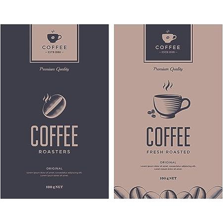 Allstar Plaque de protection en verre Coffee Cup - Set de 2, couvre-plaque de cuisson pour plaques de cuisson vitrocéramiques ou induction, Verre trempé, 30 x 0.8 x 52 cm, Multicolore