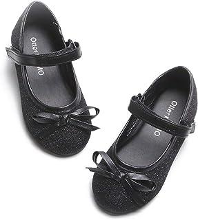 کفش باله دخترانه Otter MOMO Toddler Toddler کفش های مری جین با گره کمان