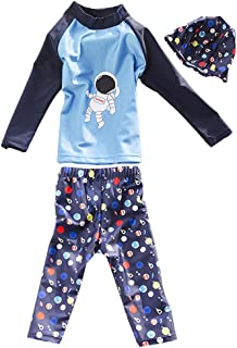Zhuhaitf 子どもの夏日焼け水着 Casual Holiday ボーイズ Kids Beach Fashion 3 Piece Long sleeve Sports Split 水着 Swimsuit