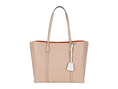 Tory Burch Perry Triple-Compartment Tote (Devon Sand) Tote Handbags