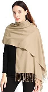 Pashmina Scarf Women Soft Cashmere Scarves Stylish Large Warm Blanket Solid Winter Shawl Elegant Wrap 78.5
