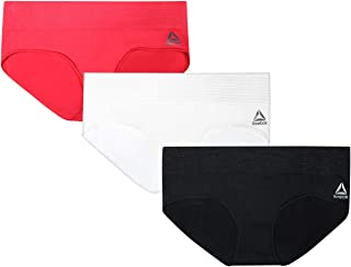Reebok Womens 3 Pack Seamless Hipster with Lurex