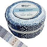 Needles Quilt Studio - 2.5' Precut 40 Fabric Strip Bundle (Beach House)   Cotton Strips Bundles for Quilting - Jelly Rolls Assortment Fabrics for Quilters & Sewing - Precuts Cloth for Quilts