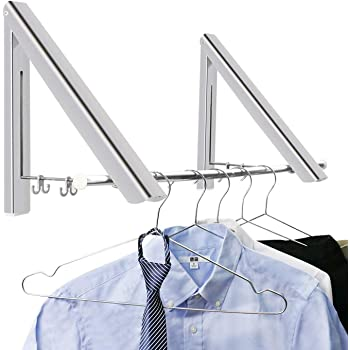 6Pack Chennie Perchas para la Ropa Organizador Multifuncional Metal Ahorro de Espacio Armario Plegable Magic Hanger Rack 2 Pack Size : 6pcs