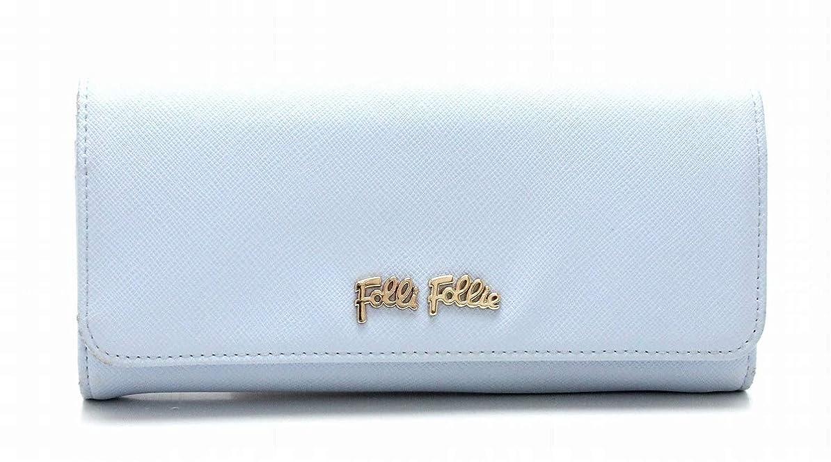 人気雪だるまを作る続編[フォリ フォリ] Folli Follie 長財布 ロングウォレット フラップ ゴールド金具 ライトブルー 水色 WA15P037GLU [中古]