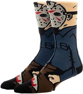 Jason Hockey Mask 360 Men`s Character Crew Socks