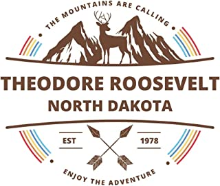 Theodore Roosevelt North Dakota: Cool Theodore Roosevelt North Dakota National Park Travel Journal / Notebook / Diary / Hiking & Camping Log Gift (6 x 9 - 110 Blank Lined Pages)