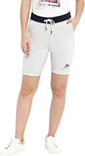 KVL Womens Cotton & Viscose Knitted Solid Jogging Shorts - Grey