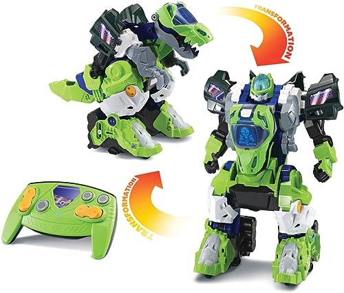 VTech - Switch & Go Dinos - Furio, Méga T-Rex Robot RC, Transformation Automatique, Radiocommandé - Version FR