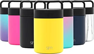 Simple Modern 12oz Provision Food Jar with Handle Lid - Vacuum Insulated 18/8 Stainless Steel Leak Proof Kid's Food Storage Container Flask -Sunshine