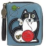 Chala Fat Cat Zip-Around Wristlet Wallet - Cat Lover Gift Cat Mom
