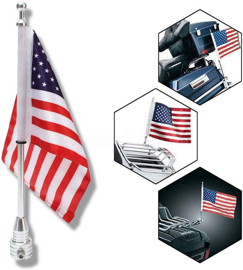 Motorcycle free shipping American Sale SALE% OFF Flag Flagpole Luggage For Mount Rack Harley
