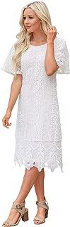 Best white crochet overlay dress Reviews