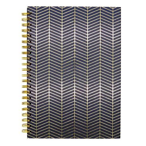 Design by Violet, Onyx A4 - Cuaderno de encuadernación con alambre (tapa dura), color dorado