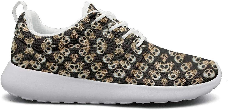 Wuixkas Skull Womens Lightweight Mesh Sneakers Cute Running shoes