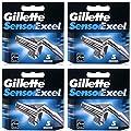 20 Blades Gillette Sensor Excel Razor Blades Cartridges Refill (5 Blades x 4 Pack)