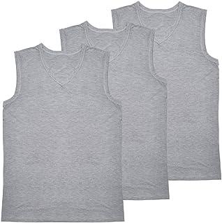 JISEN Men's V Neck Sleeveless T-Shirt Elastic Modal Cotton Sports Tank Tops