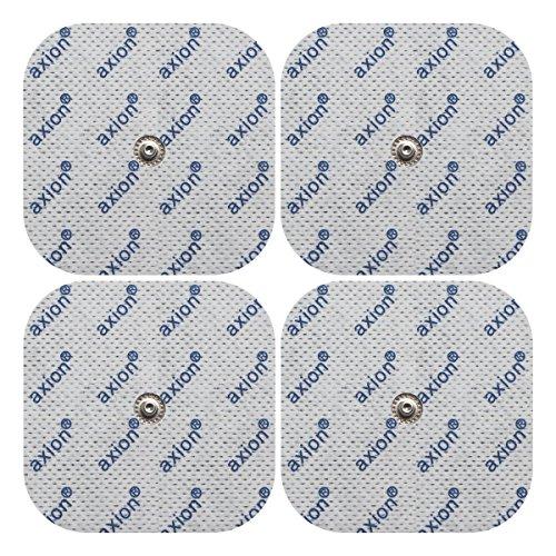 4 Electrodos de 5x5cm de axion   para TENS y EMS   Compatibles con su aparato COMPEX   Electrodos autoadhesivos, parches, pads, de varios usos   Electroestimulación