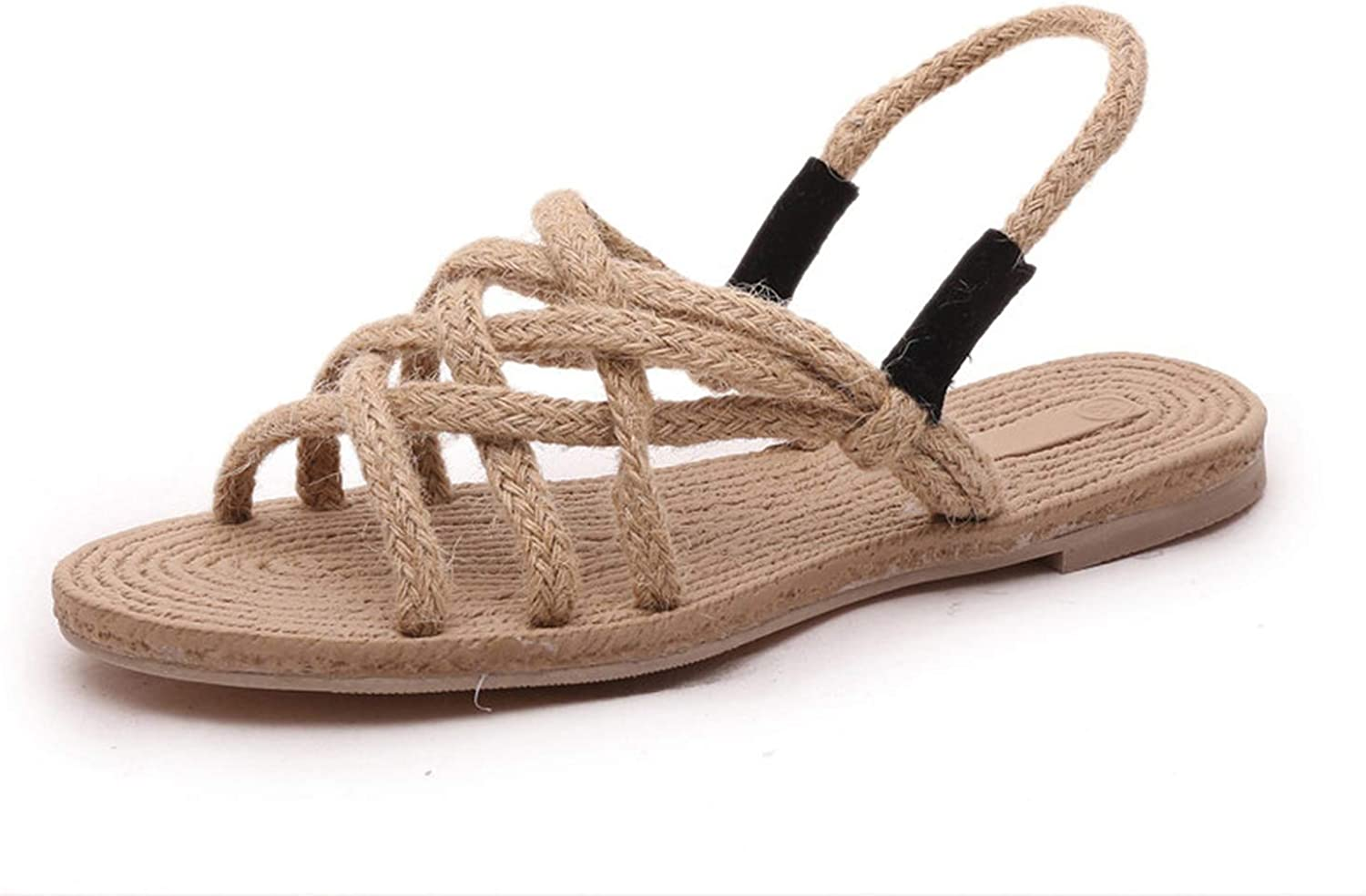 Cane shoes New Summer Women Sandals Casual Straw Rope Sandals Fashion Ladies Open Toe Flats